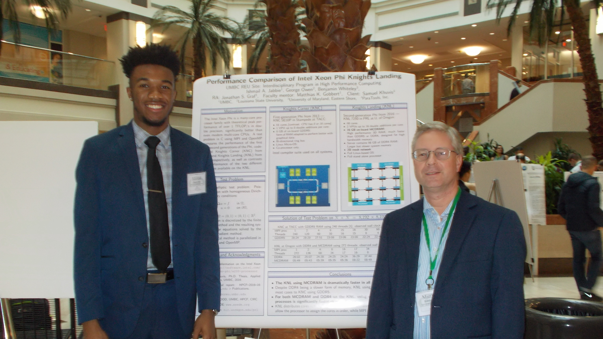 Ishmail Jabbie Presents Poster at NSF
