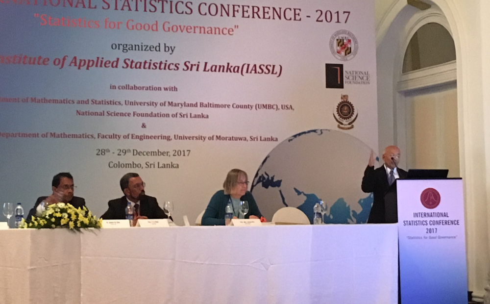 Dr. Sinha Delivers Keynote Address in Sri Lanka